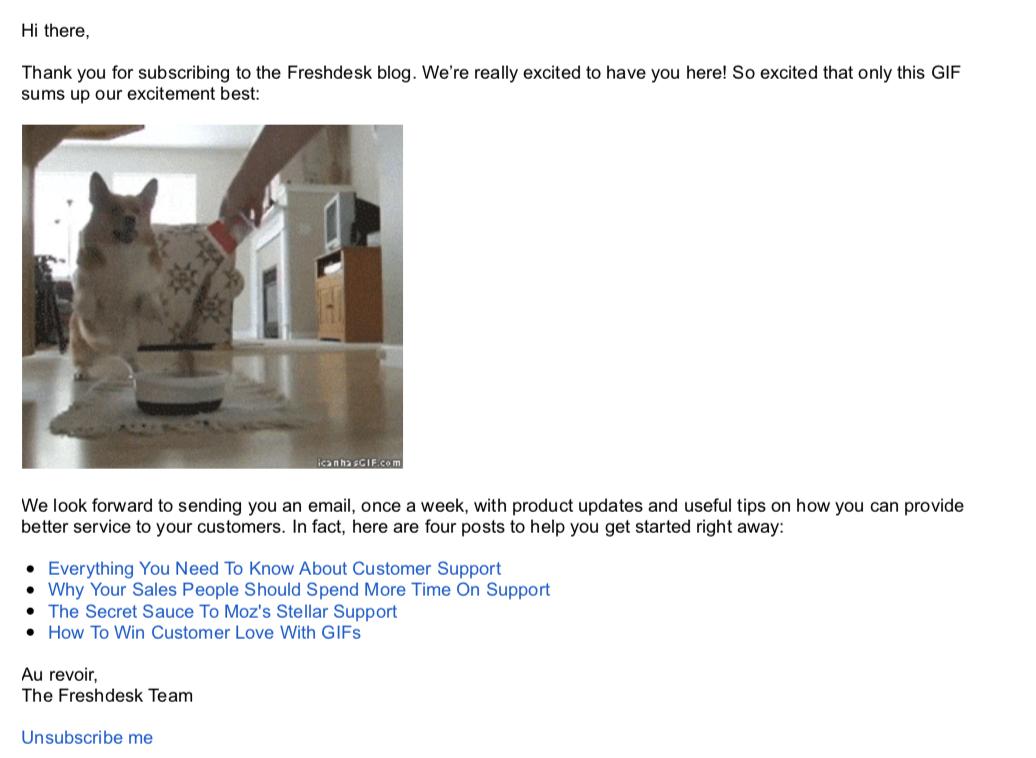 Freshdesk subscriber email